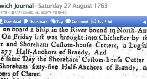 1763c 27th August Ipswich Journal