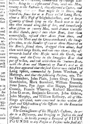 1785bc March 4th Sussex Advertiser