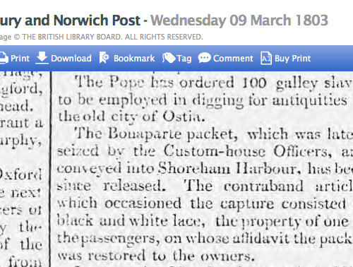 1803a 9th March Bury and Norwich Post