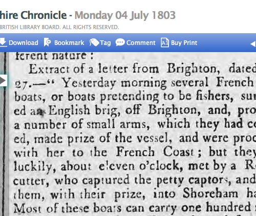 1803c 4th July Hampshire Chronicle