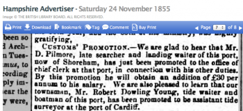 1855ka Referring to Pilmores previous port Poole