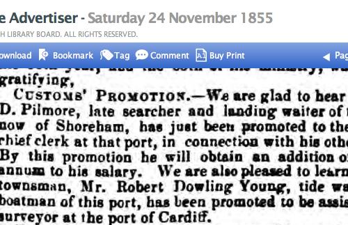 1855ka Referring to Pilmores previous port Poole