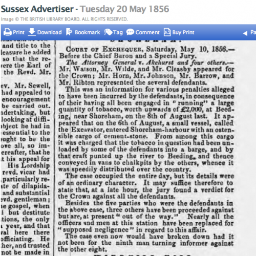 1856eb 20th May SA This is the case in Cheales book page 144 Circus tickets