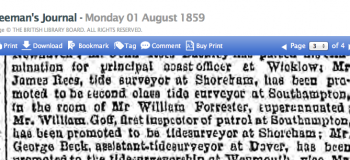 1859ha 1st August Freemans Journal Civil Service Promotions