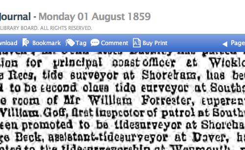 1859ha 1st August Freemans Journal Civil Service Promotions
