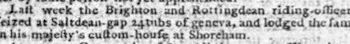 1793d 12th August Hampshire Chronicle