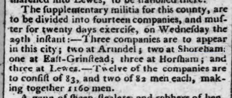 1797 18th March Hampshire Chronicle