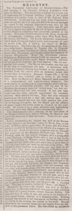 1865bb Sussex Advertiser 8th August 1865