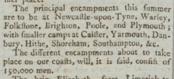 1795 18th March Hampshire Chronicle