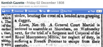 1808d 2nd December Kentish Gazette