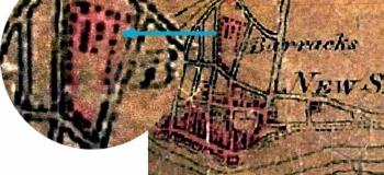 1815b Budgens 1797 showing Shoreham Barracks