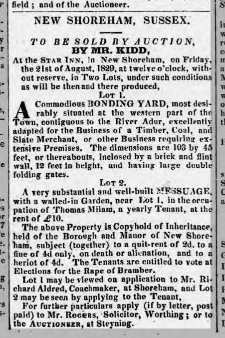 1829 10th August SA