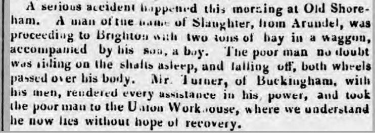1841ba 1st February Sussex Advertiser