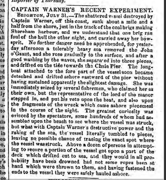 1844hg 3rd August Freemans Journal