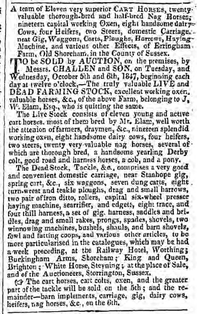 1847ja 2nd October Hampshire Telegraph