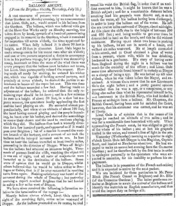 1850g 13th July Hampshire Telegraph