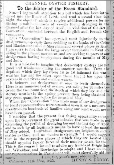 1855eb 16th May Essex Standard
