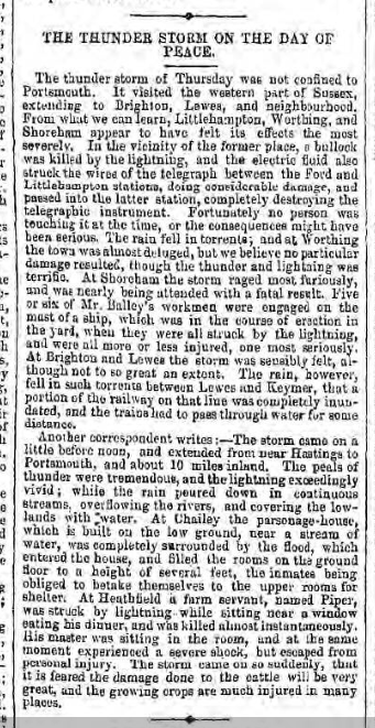 1856ee 31st May Hampshire Telegraph