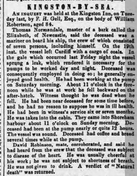 1856ja 7th October SA
