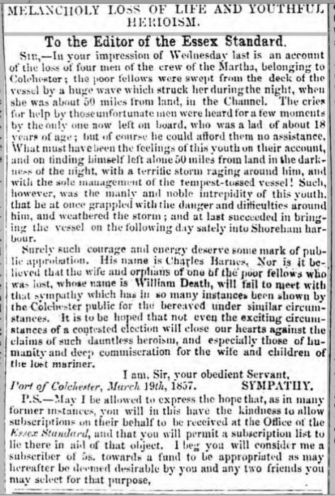 1857cn 27th March Essex Standard