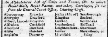 1791 7th November Hampshire Chronicle