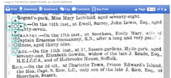 1857eg 19th May Morning Post Death announcements