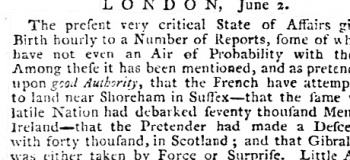 1775 29 Nov and 27 June 1778 Oxford Journal