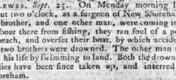 1775 2nd October Hampshire Chronicle