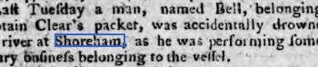 1784b 13th December Sussex Advertiser
