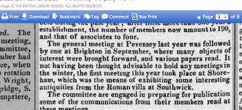 1847gc EXTRACT FROM AGM OF SUSSEX ARCHAEOLOGICAL SOCIETY