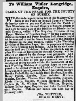 1854de 25th April Sussex Advertiser