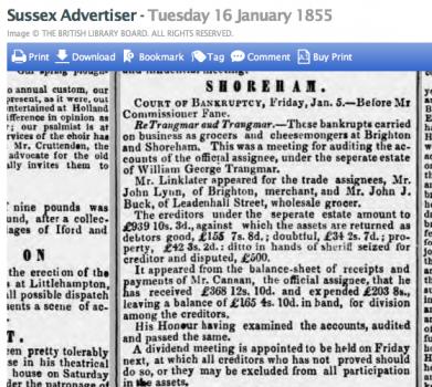1855ac 16th January SA