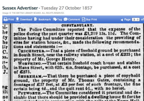 1857je 27 Oct SA West Sussex Michaelmas Sessions report