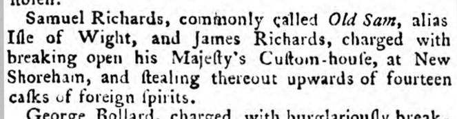 1786 20th March 1786 Sussex Advertiser