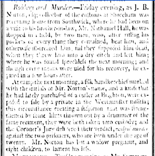 1795 22nd October 1795 Bath Chronicle