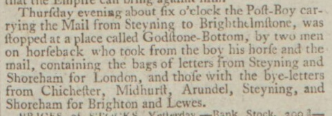 1792a 3rd November 1792 Northampton Mercury