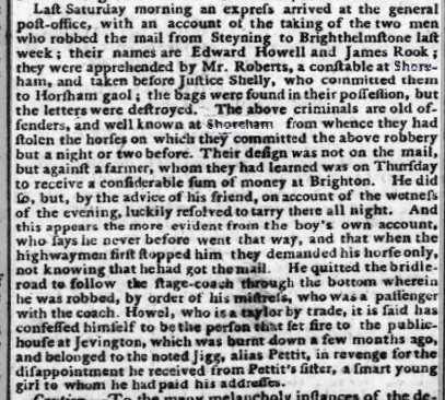 1792b 12th November 1792 Hampshire Chronicle