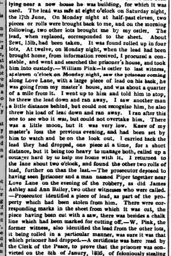 1836e 9th July Hampshire Advertiser