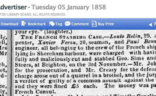 1858ab 5th January SA