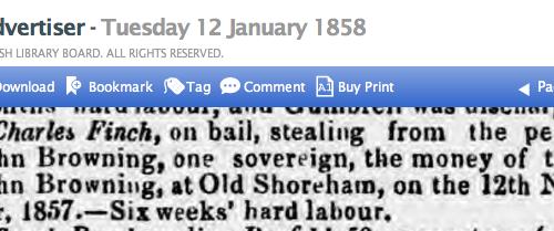 1858ag 12th January SA