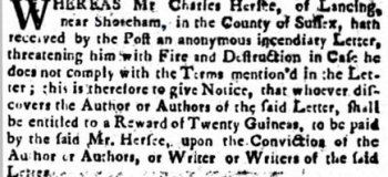 1756 6th September Sussex Advertiser