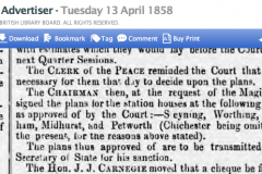 1858db 13th April SA from Police Committees Report for Sussex