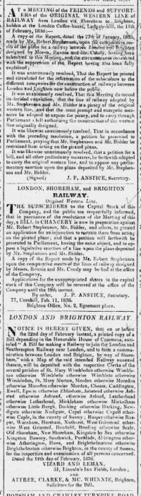 1836bc 15th February SA