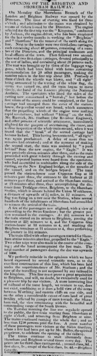 1840ef 18th May Hampshire Telegraph RAILWAY OPENING