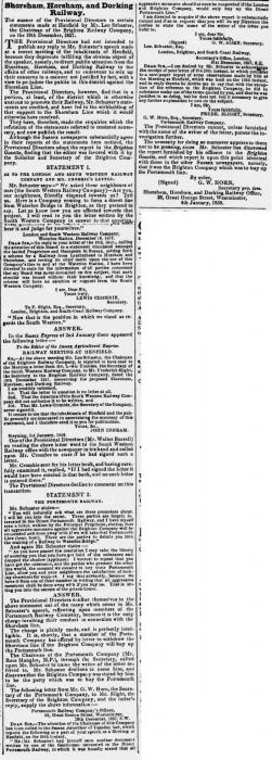 1858ah 12th January SA Railway