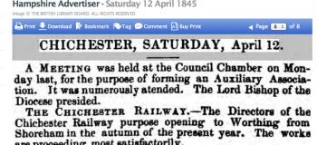 1845da 12th April Hampshire Advertiser