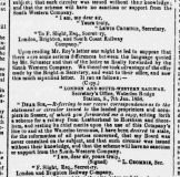 1858am 26th January SA Railway