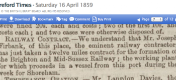 1859df 16thApril Hereford Times of this place refers to Newport Mon