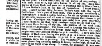 1847b 16th January Hampshire Advertiser Angmering roads named