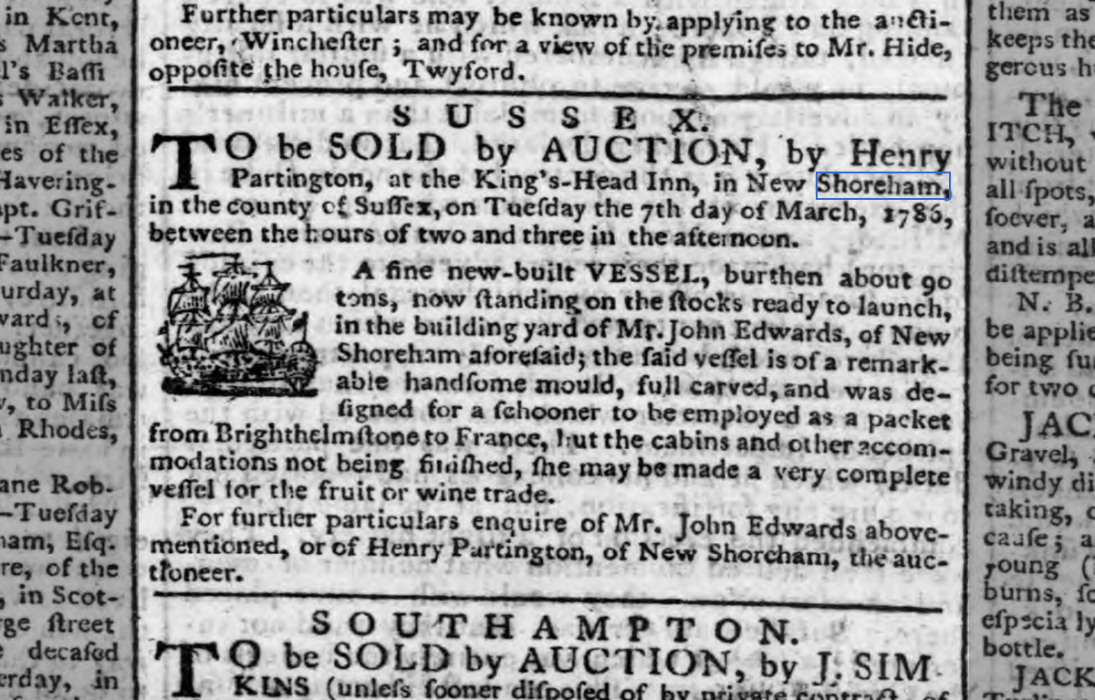 1786a February Hampshire Chronicle
